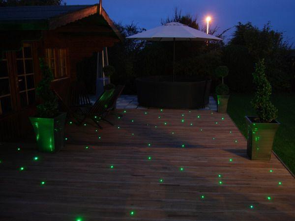 Nice Fibre Optic Deck Lighting Patio Ideas