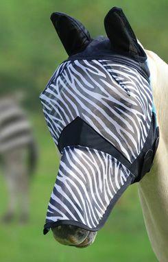 Shires Zebra Print Fine Mesh Fly Mask With Ears Nose Zebra Fly Rugs Zebra Print