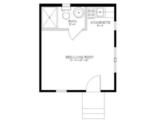 Los Planos De Son De Una Cabaña Monoambiente De 21 Metros Cuadrados Un Diseño Perfecto Planos De Casas Planos De Casas Prefabricadas Planos De Casas Pequeñas