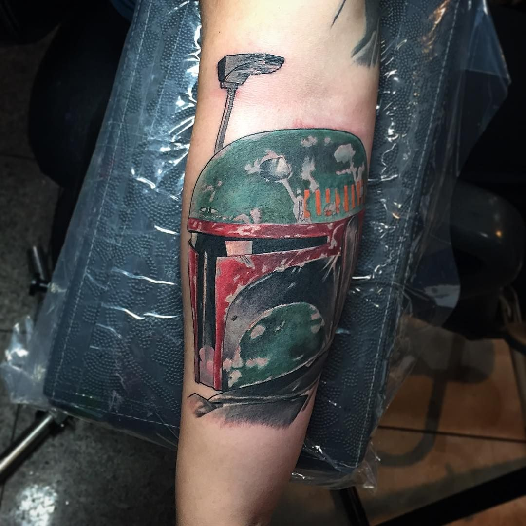 The beginning of a Star Wars sleeve Star wars tattoo