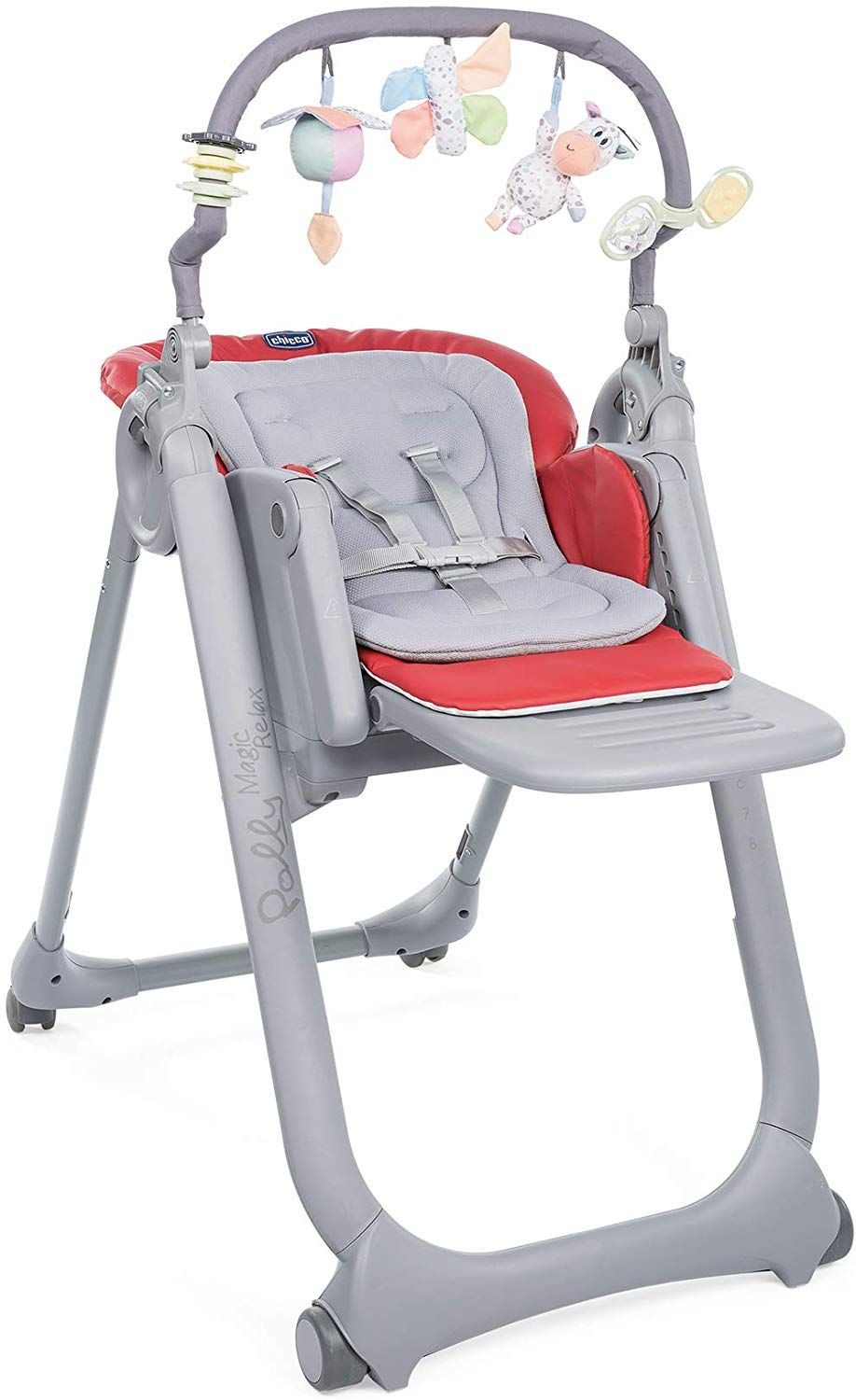 Chicco Chaise Haute Bebe Polly Magic Relax 4 Roues Scarlet Dossier Inclinable Amazon Fr Bebes Puericul Chaise Haute Chaise Haute Enfant Chaise Haute Bebe