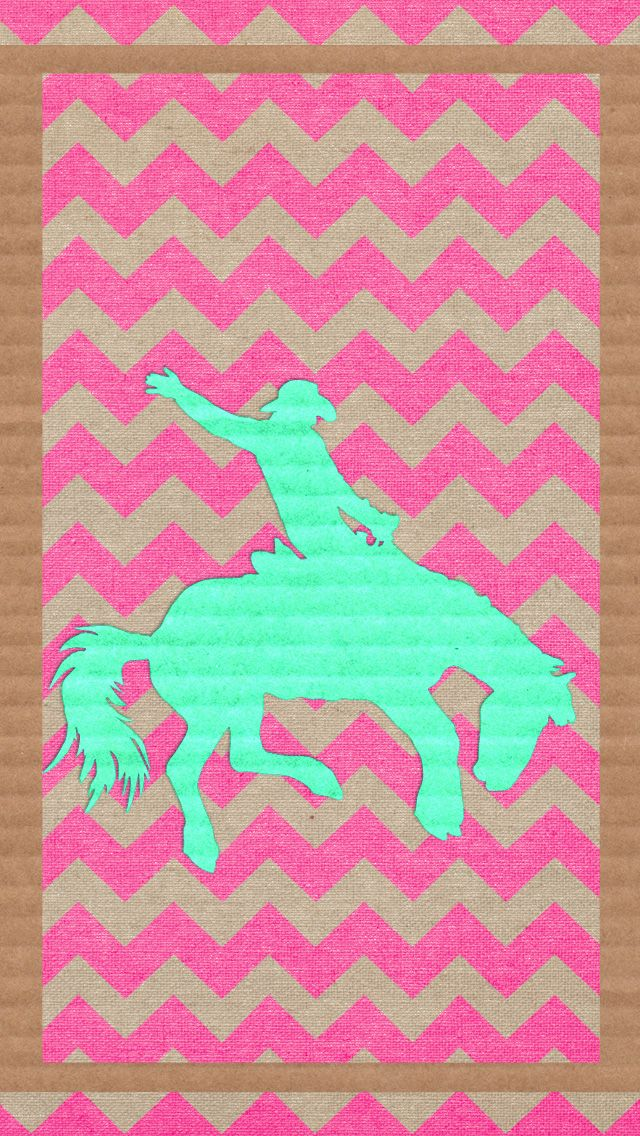Iphone Wallpaper Phone Background Cowgirl Cowboy Bucking Horse