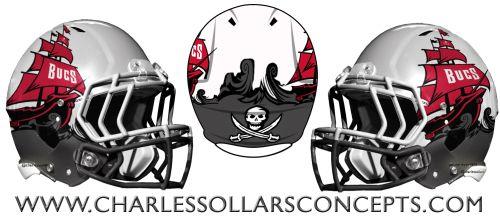 Tampa Bay Bucs Concepts Nfl Football Helmets Nfl Helmet