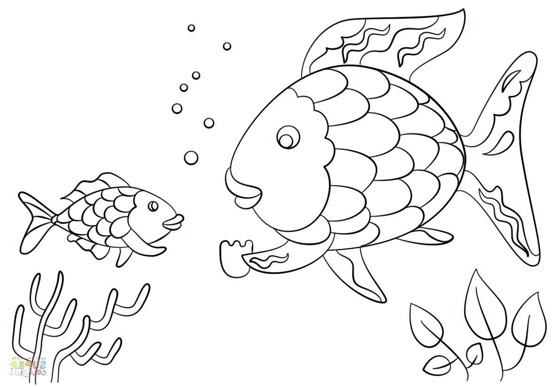 Rainbow Fish Coloring Page Fresh Inspiring Crawfish Coloring Page Fiestaprint Rainbow Fish Coloring Page Fish Coloring Page Rainbow Fish