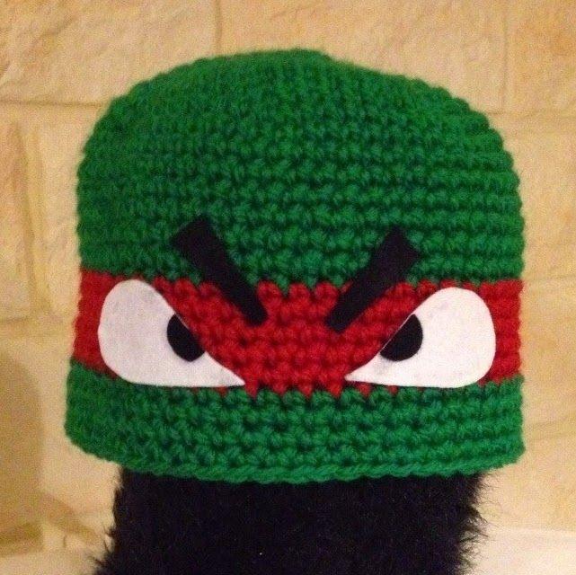 modele tricot gratuit tortue ninja