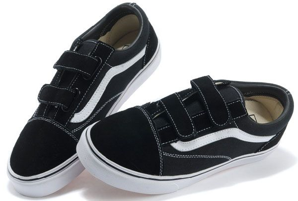 1b4dd33bc5d Vans Off the Wall Classic Velcro Old Skool Skateboard Black White Suede Low  Tops Sneakers  B13092408  -  39.99   Vans Shop
