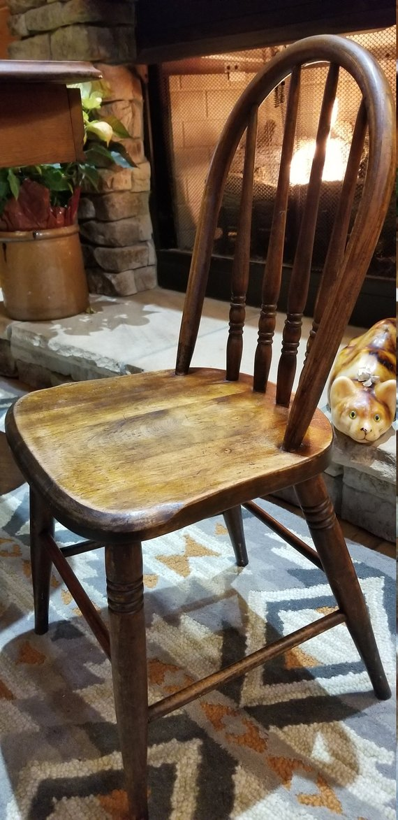 Antique Spindle Back Chair Rare S Bent Brothers 1887 Windsor Child S Chair High Quality Furniture Chair Furniture Decorative Chair