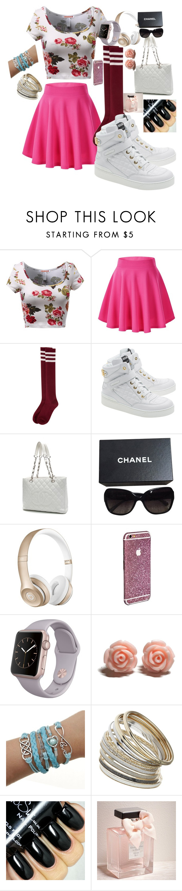 """Is your phone done changer..... Barely"" by goddess12 ❤ liked on Polyvore featuring Moschino, Chanel, Beats by Dr. Dre, Miss Selfridge, Abercrombie & Fitch, women's clothing, women, female, woman and misses"