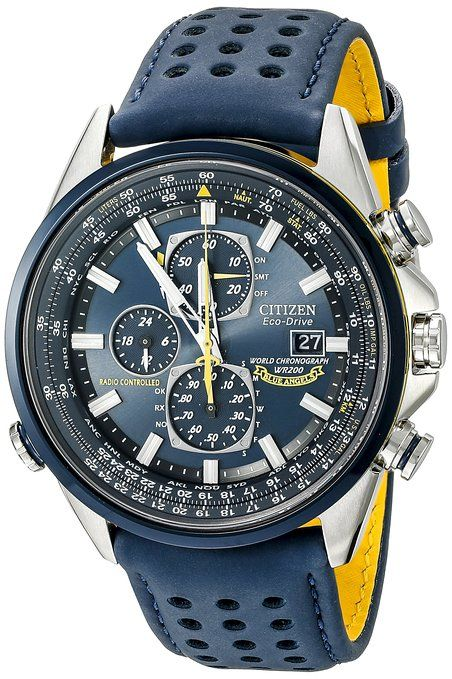 2db119b51a1 Citizen Men s AT8020-03L Blue Angels World A-T Eco-Drive Watch ...