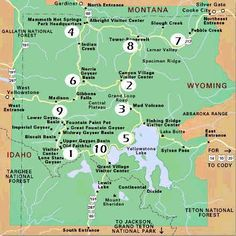 Yellowstone Top Yellowstone National Park Wyoming Travel - Top 10 things to see in yellowstone national park