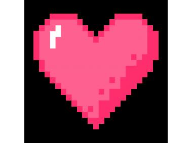 Pixel Art Heart Stickers   สติกเกอร์, หัวใจ