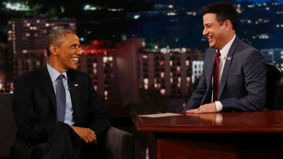 Obama on Jimmy Kimmel Live read mean tweets. Freedom of speech. Wow