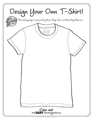 post image for design your own tee coloring page - T Shirt Coloring Page