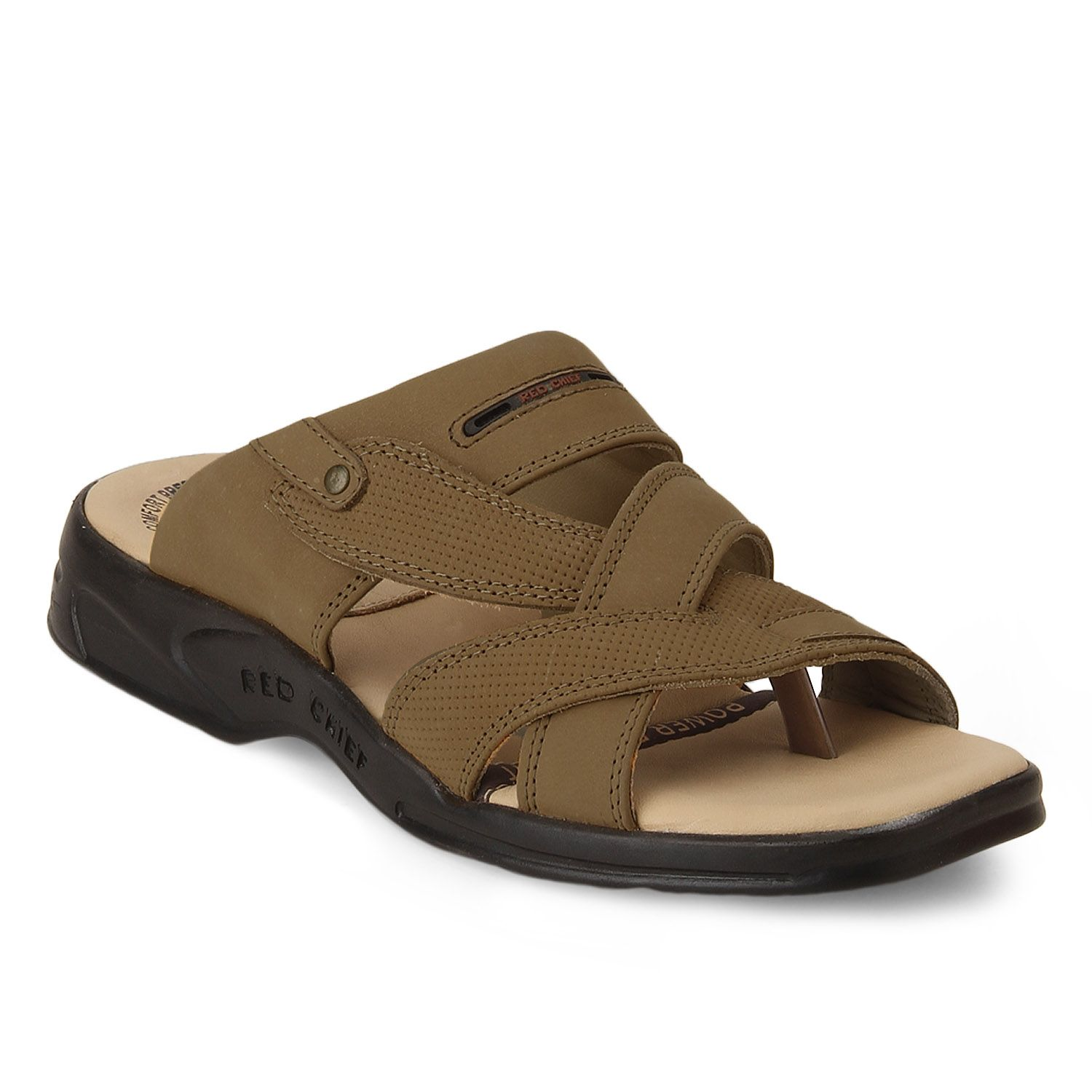 Accentuate your look with this pair of Rust men's sandals from PowerFlex by  Red Chief.