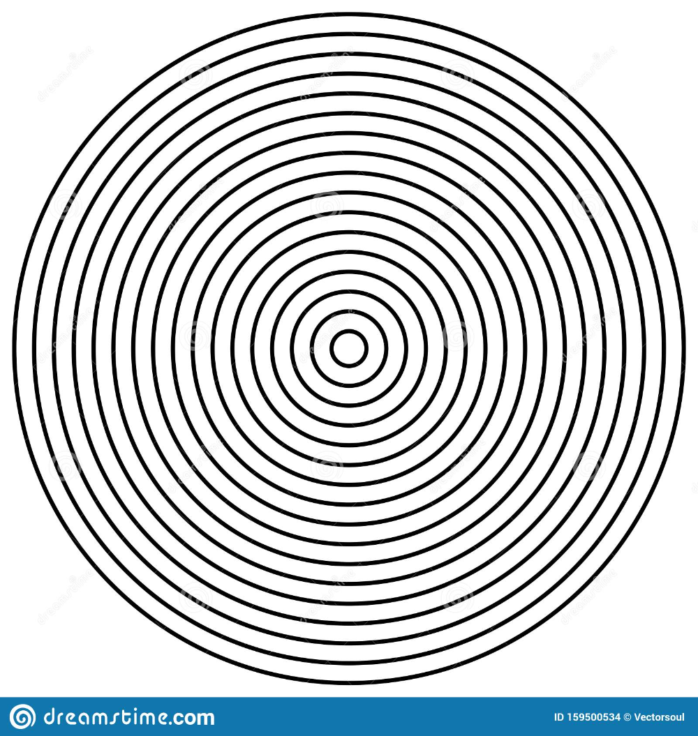 Radial Circles Design Element Converge Circle Lines Repeating Expand Circles From Center Epicenter Emissi Circle Design Design Element Vector Illustration
