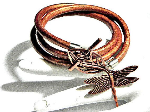 Leather Cuff Leather Wrap Bracelet with by CookalasHouseOfCards, $18.99