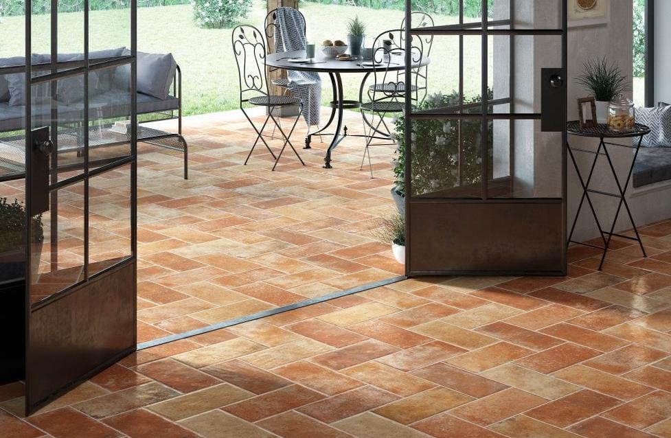 Verde Rustic Terracotta Effect Floor Tiles Indoor