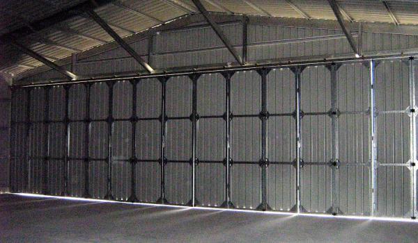 Aircraft Hangar With Concertina Doors Inside View