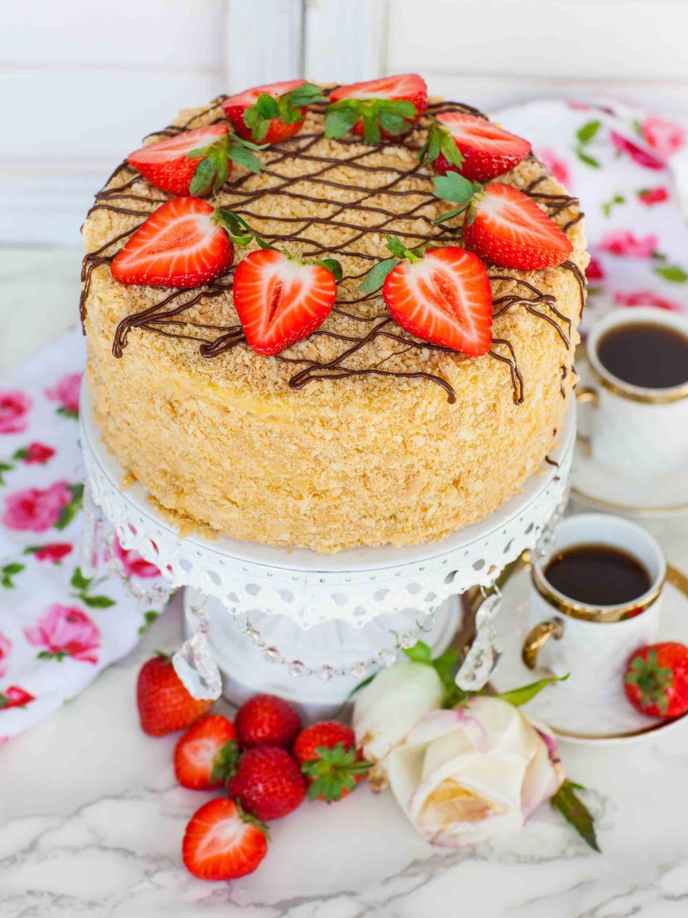 Torte Napoleon #napoleonkuchenrussisch Torte Napoleon - Tatyanas Everyday Food #napoleonkuchenrussisch