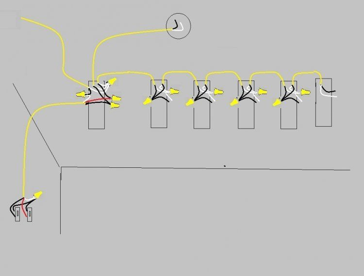 f735ffb75dea9574923f647dba44baf8 how to wire two light switches with 2 lights with one power supply wiring multiple lights to one switch diagram at fashall.co