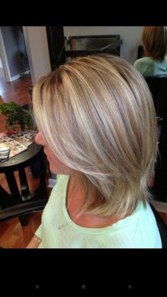 Love The Highlights Lowlights Hair Styles Blonde Hair With Highlights Ash Blonde Hair