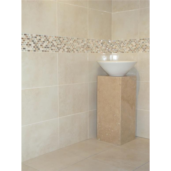 homebase bathroom tiles india beige wall tiles and beige pearl mix mosaic 13153