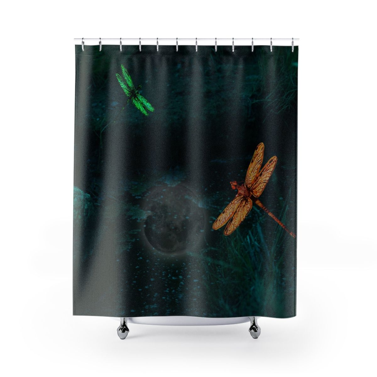 Dragon Fly Shower Curtain Bathroom Decor Dragonflies Art
