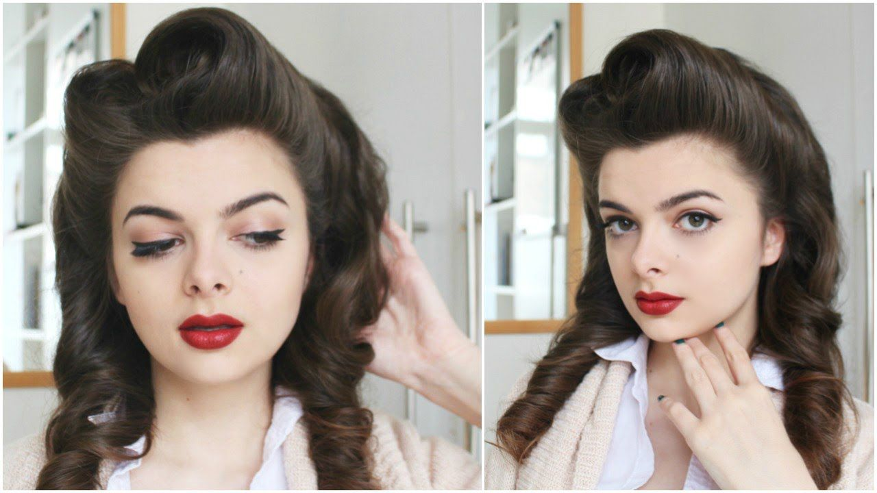 How To Victory Rolls Victory Roll Hair Retro Hairstyles Roll Hairstyle