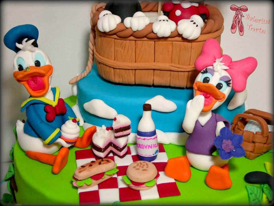 Disney Picnic Cake – Dizni junaci torta – Miki Maus torta by Balerina Torte Jagodina