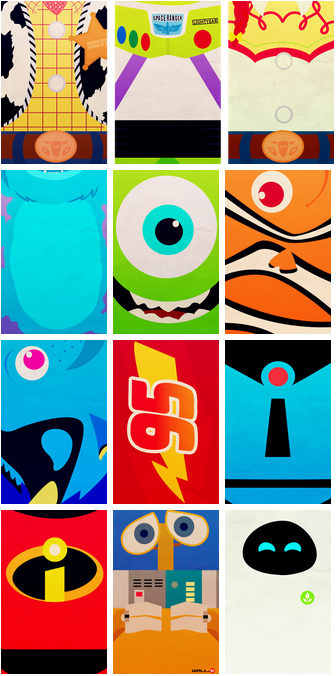 Pixar simple phone backgrounds by PetiteTiara Disney canvas