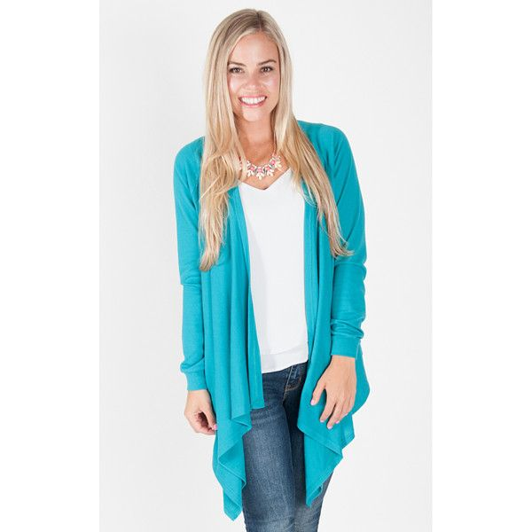 All For Color Claire Waterfall Cardigan (390239701) ($37) ❤ liked ...