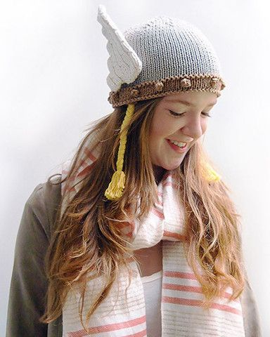 b9eb959a Viking Valkyrie Knitted hat. I am going to attempt the baby version ...