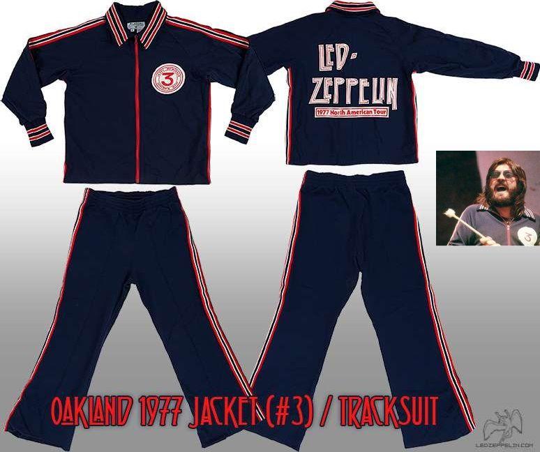 7fbab9947 led zep vintage swag Oakland 1977 Jacket-Tracksuit. Bonzo wore the ...