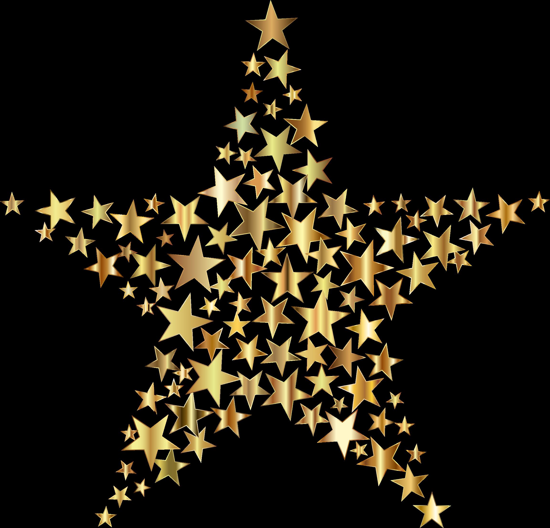 Gold Star Fractal No Background by GDJ Fractals, Star