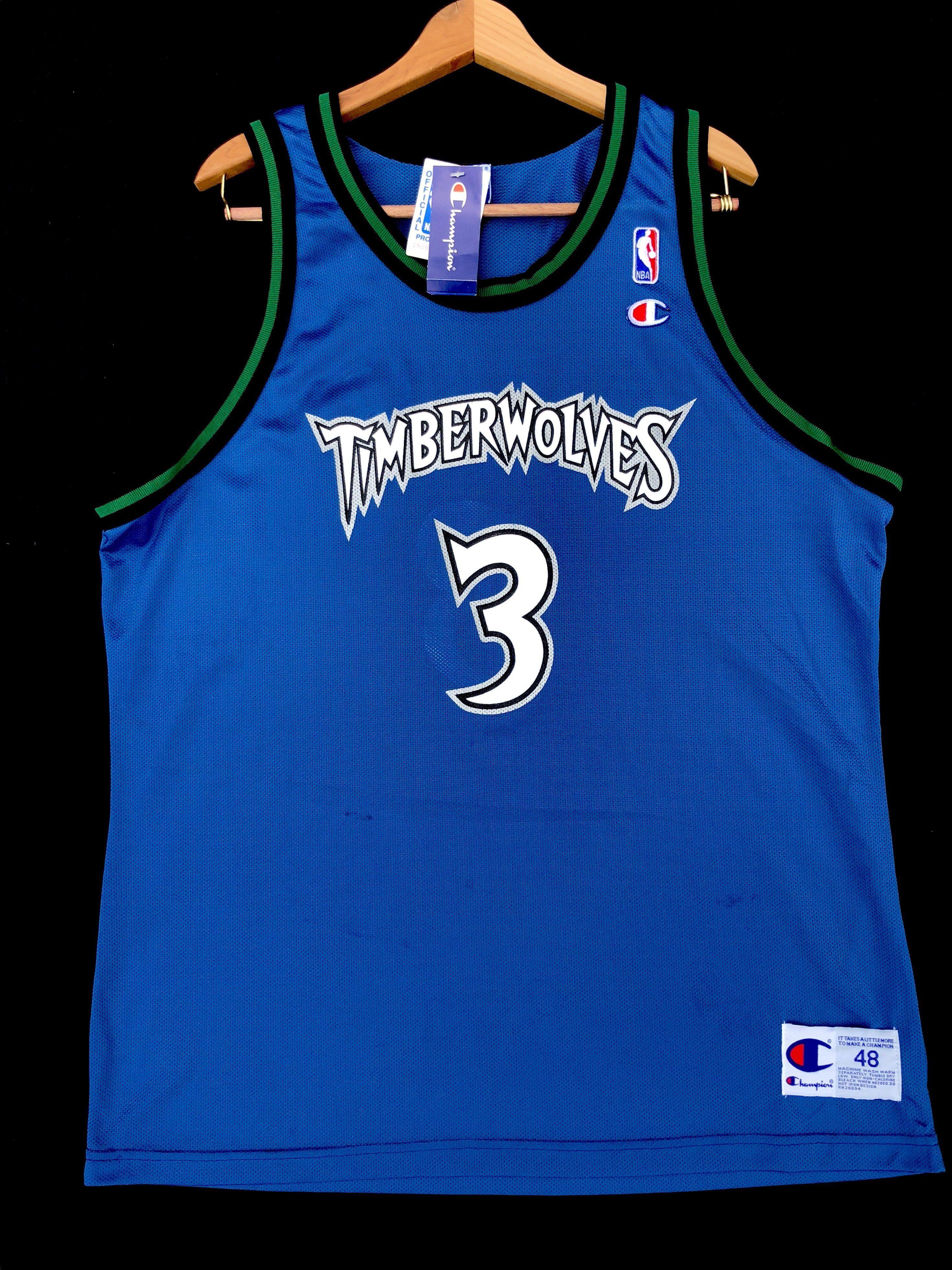 47b173bc395 Stephon Marbury Minnesota Timberwolves Vintage Champion Jersey 48 ...