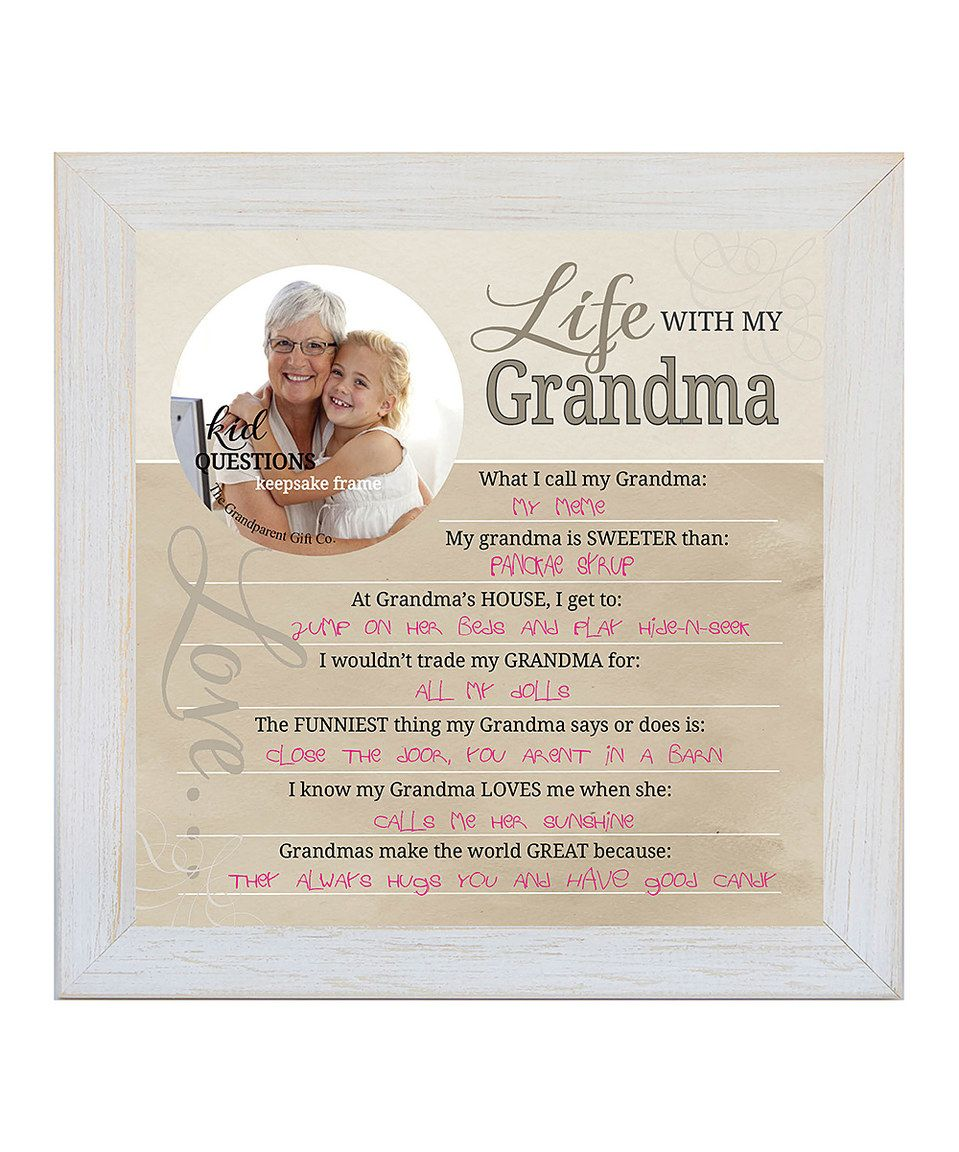 Take a look at this \'Life With My Grandma\' Frame today!   Ideas ...
