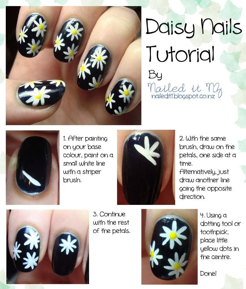 16 Truly Awesome Nail Design Techniques | Daisy nails, Tutorials and ...