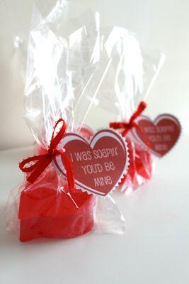 DIY Valentine Heart Soaps