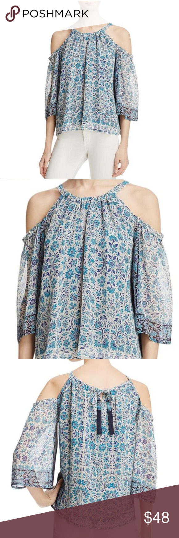 55864567cd592b Beltaine Cold Shoulder Blouse Beltaine Cold Shoulder Blouse Size Medium  Serenely styled in a breezy silhouette