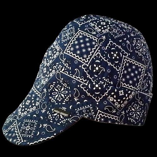 WELDING CAP MADE WITH   DARK BLUE BANDANA