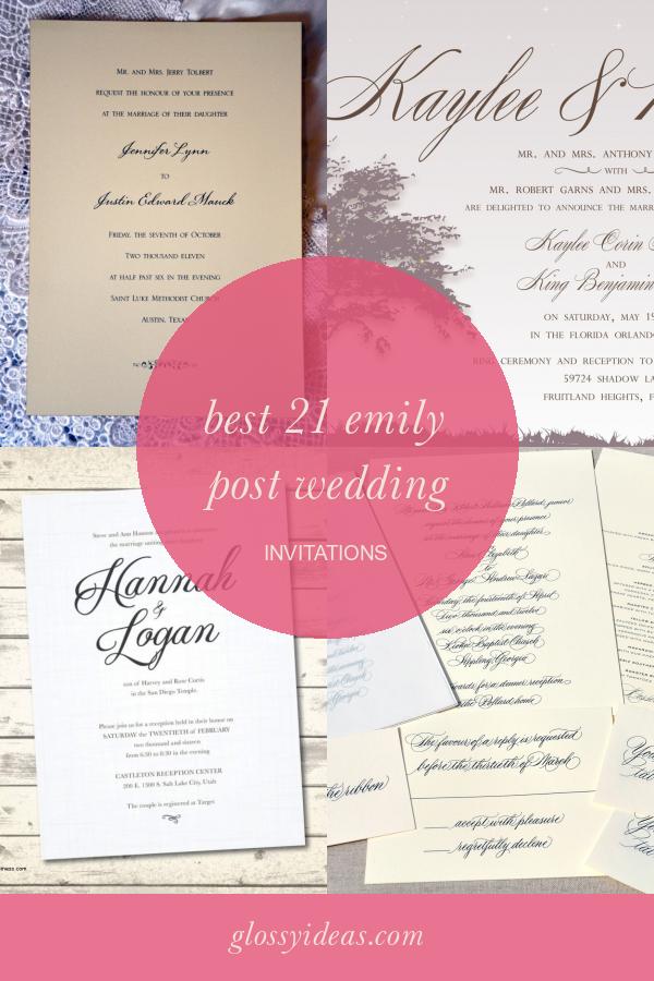 Best 21 Emily Post Wedding Invitations In 2020 Post Wedding Wedding Invitations Wedding Invitations Diy