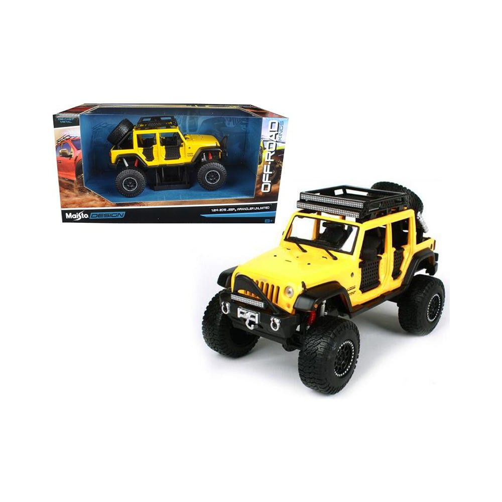 2015 Jeep Wrangler Unlimited Yellow Off Road Kings 1 24 Diecast