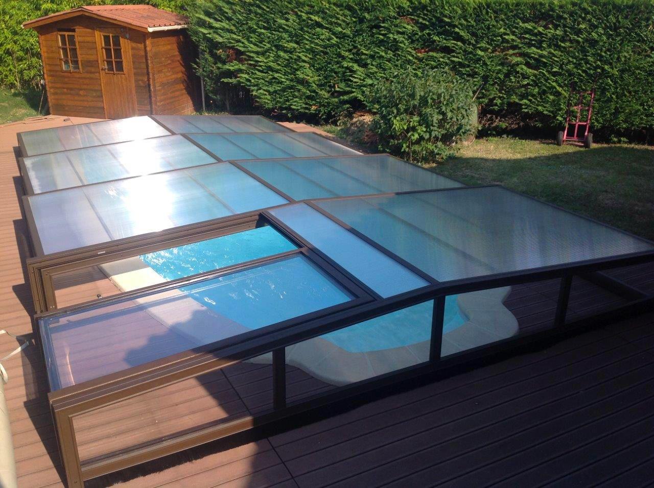 abri bas de piscine t lescopique pos colomiers pr s de. Black Bedroom Furniture Sets. Home Design Ideas