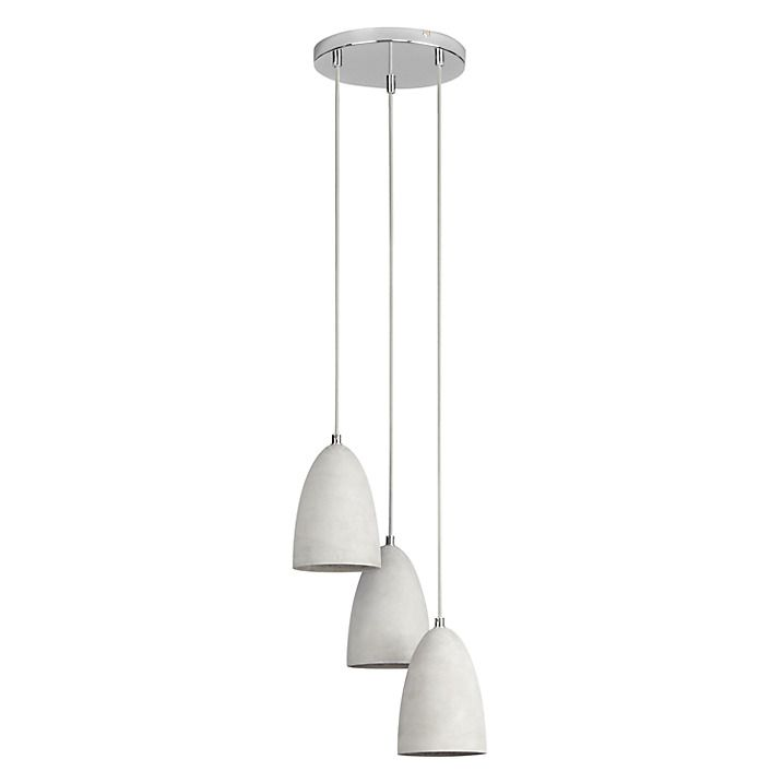 Buy John Lewis Carey Concrete Dangles 3 Drop Ceiling Light Online At  Johnlewis.com. Light InstallationKitchen LightingJohn ...