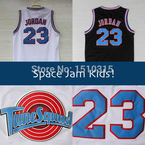 65ab249c1fe09d Aliexpress.com   Buy KIDS Space Jam  23 Michael Jordan Basketball Jersey  Youth
