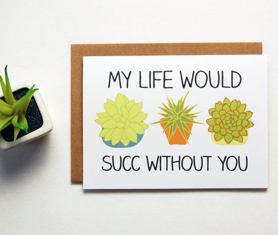 My Life Would Suck Without You Greeting Card Boyfriend Gift Long