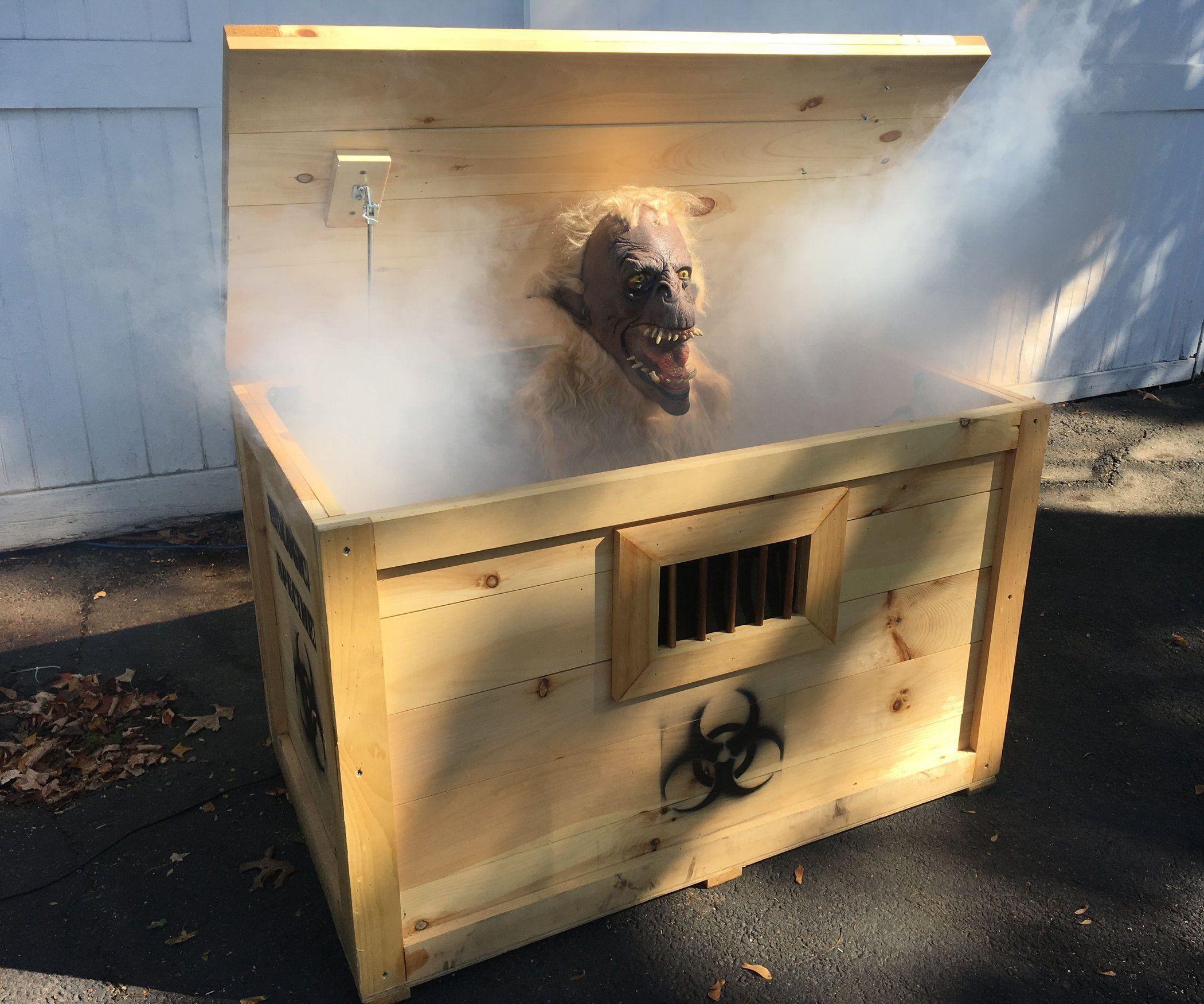 Scariest Monster In A Box Halloween Prop Creepy Halloween