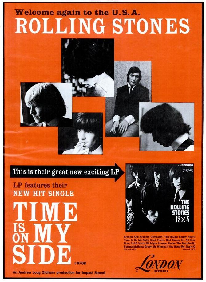 Rolling Stones - 12 x 5,and Time Is On My Side LP and Single