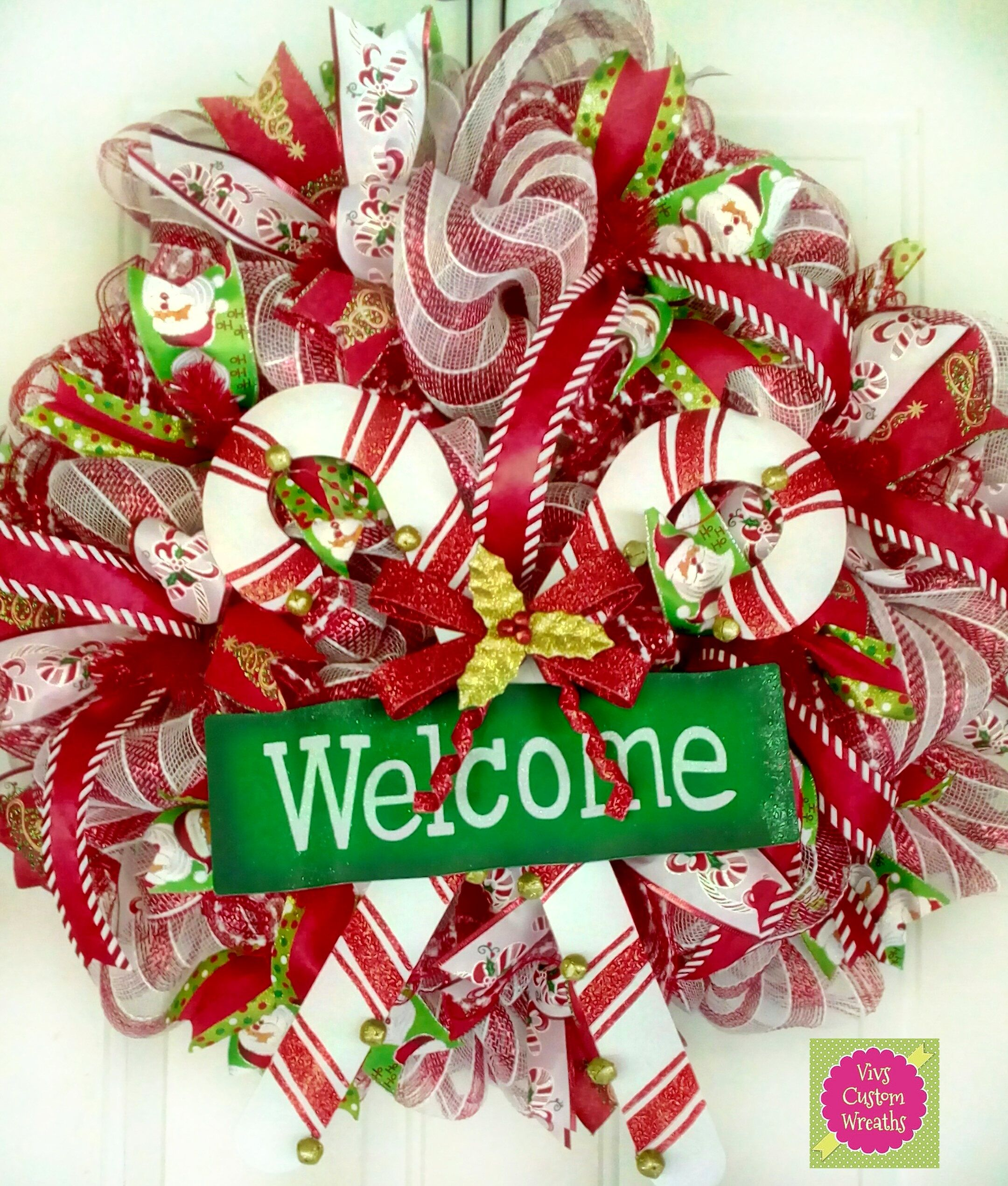 welcome christmas wreath on - photo #8