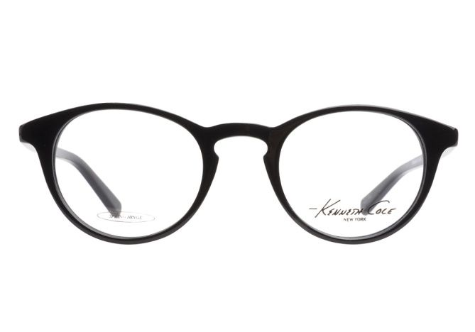 Kenneth Cole New York 168 001 Shiny Black eyeglasses are a modest ...